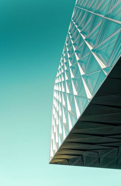 The Architect - 2017 EyeEm Awards Architecture Built Structure Low Angle View Clear Sky No People Building Exterior Modern Day Blue Outdoors Sky Minimalism The Week On EyeEm