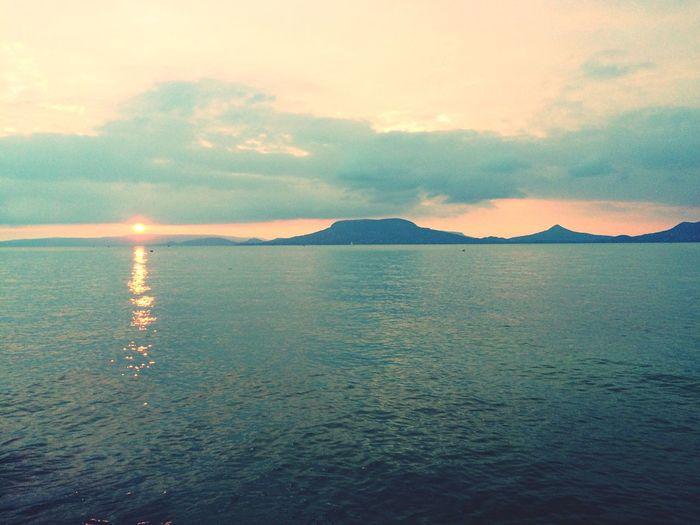 Seeing The Sights Hungary Lake Balaton Fonyódliget Mountain View Lake View Summertime Sunset