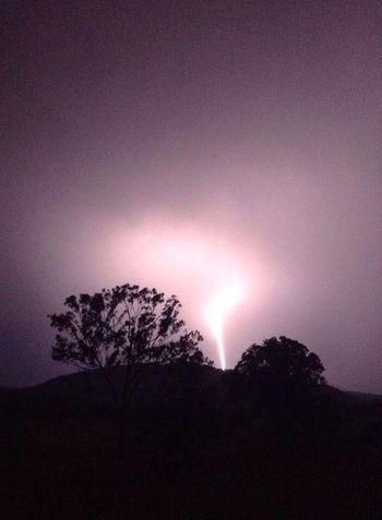 Lightening Storm Night Dark Dangerous Beauty Tree Nature Majestic