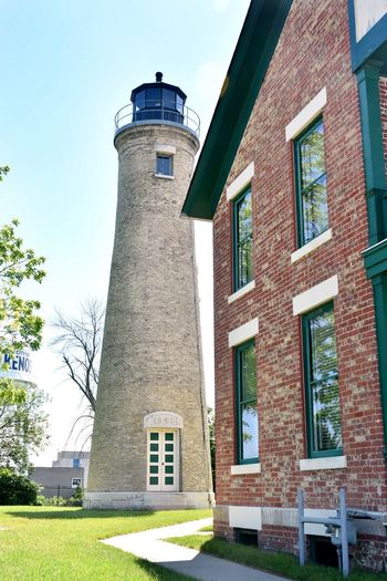 Kenosha  Lighthouse Lighthouses Southport Lighthouse Architecture Built Structure Clear Sky Day Lighthouses Of Lake Michigan Low Angle View No People Tower
