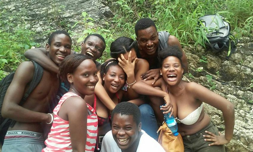THESE Are My Friends Boukan Haiti Enjoying Life 2JSG Haitiens A Moment For Life Because We Are Happy No Effects, No Filters, Just Us In Haïti Hanging Out 2015