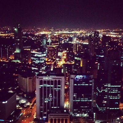 The Makati Skyline from the Gramercy. Awesome view!
