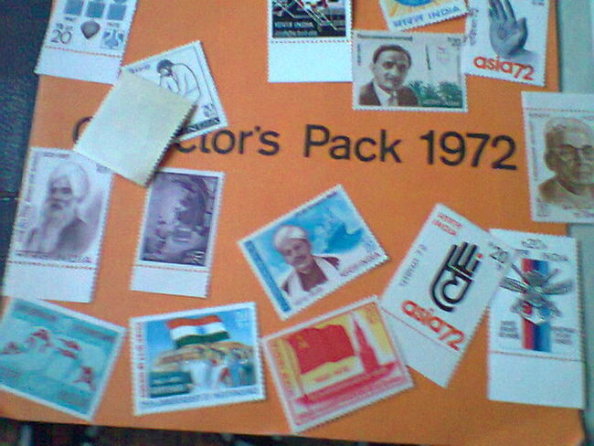 Mail Postage Stamp Communication Close-up No People Envelope Indoors  Photograph Day Collecting Indian Stamps Full Set 1972