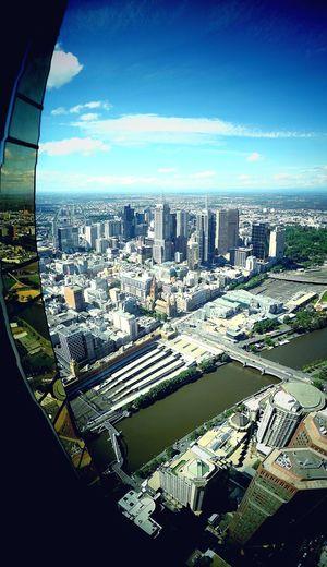 Aerial Shot Melbourne Eureka Skydeck 88 Australia Melbourne Central