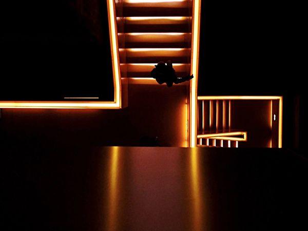 Zeche Zollverein Weltkulturerbe Museum Orange Orange Color Stairs Upstairs Crossing Cross People Watching People Photography People Peoplephotography Essen Ruhrgebiet Ruhrpott Human Meets Technology