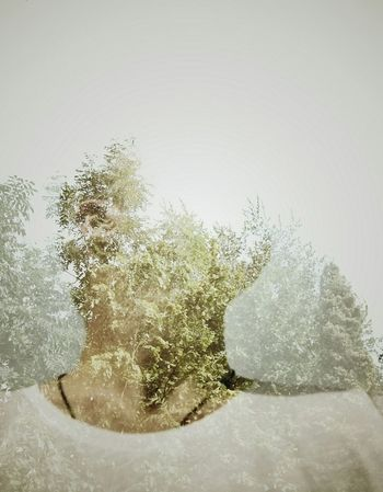 Xf35mm Fuji Xpro1 Double Exposure Enchanted Forest