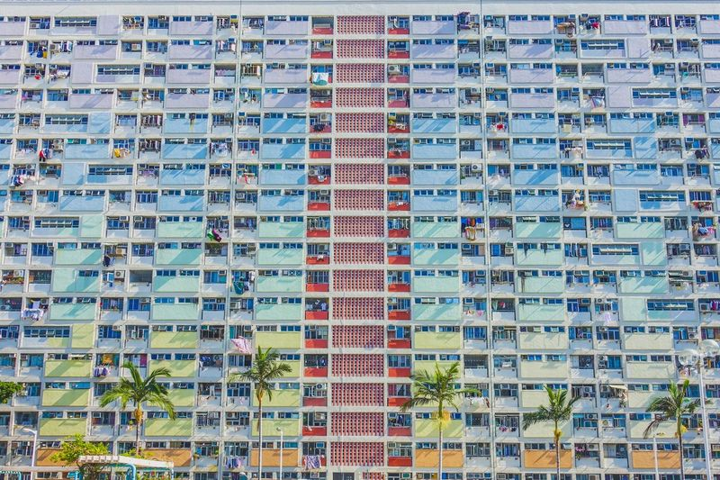 Pattern Colorful Apartment Rainbow Full Frame Backgrounds Pattern No People Technology Healthcare And Medicine Order Built Structure Large Group Of Objects Outdoors Multi Colored Building Exterior