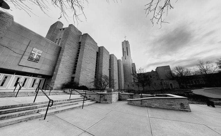 St. Benedict's Abbey church on Benedictine college campus in town. Taking Photos Hello World Check This Out Kansasphotos Kansasphotographer Wow_america Atchison Blackandwhite Wow_america_bnw America Wow_hdr Ks_pride World_bnw Wow_america_landscape Benedictinecollege