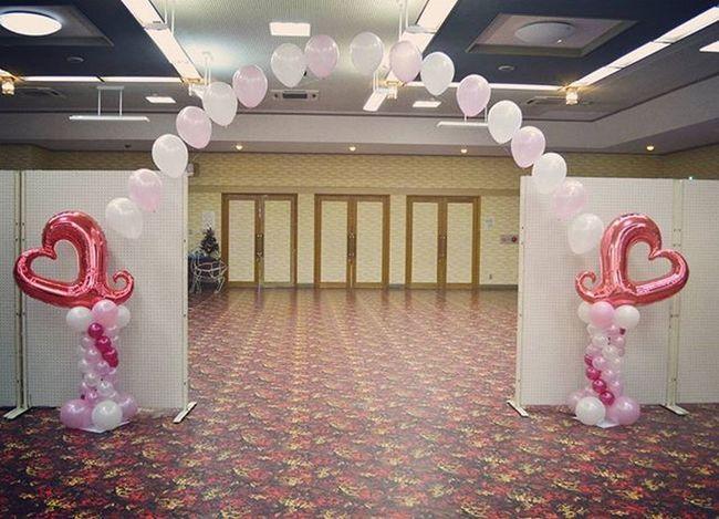 バルーン装飾 風船 浮く アーチ はーと ピンク Love ラブ Balloon Arch Heart Pink 白 White デコレーション Decoration パーティ Party 会場 婚活 Like Dream Single Singlearch ホテル hotel 恋 instalike Japan