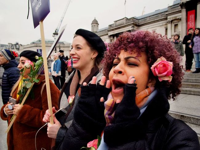 Womens March. London. 19/01/2019 LONDON❤ Equality Womens March Womens March 2019 Womens March London Protesters Protest London News Stevesevilempire Steve Merrick OM-D Olympus Architecture Building Exterior City Women Real People Built Structure Adult