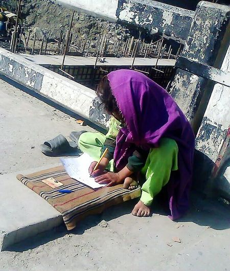 Though this is helpless daugter of Begger man but She is Princess of Her Parents. She wants to Study too.