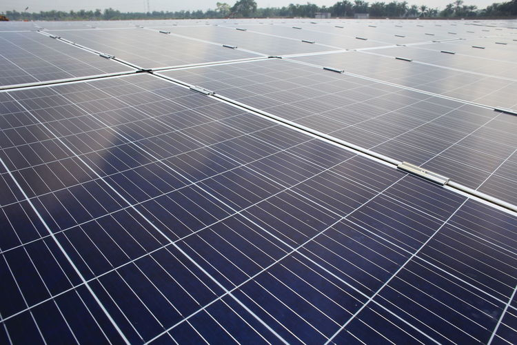 large scale solar farm Alternative Energy Business Day Economy Electricity  Environment Environmental Conservation Environmental Issues Finance Fuel And Power Generation Nature Outdoors Pattern Power Supply Renewable Energy Roof Sky Solar Energy Solar Panel Sun Sunlight Technology