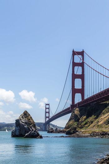 Suspension Bridge Over Sea