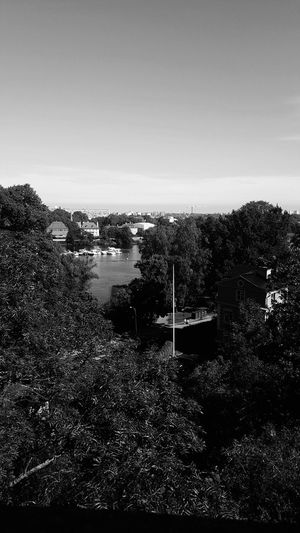 Water Copy Space Clear Sky Sea River Tranquility Tranquil Scene Nature Day Remote Outdoors Scenics No People Canal Non-urban Scene Waterfront Beauty In Nature Stockholm Sweden Blackandwhite Black And White