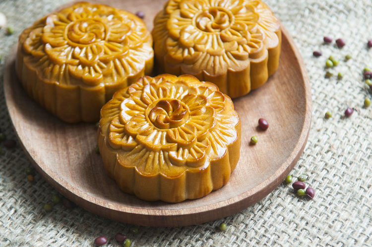 Traditional moon cakes to celebrate mid autumn festival Singapore Taiwan Vietnam Chinese Close-up Food Food And Drink Freshness Fruit Mid Autumn Festival Moon Cakes No People Traditional