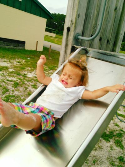 Braleigh loves to slide but hates to watch! First Eyeem Photo