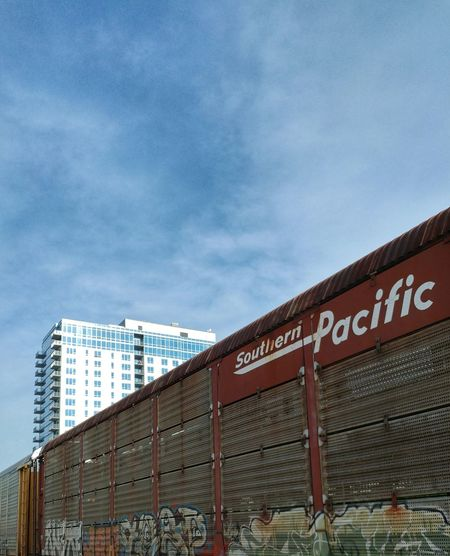 Train Building Sky