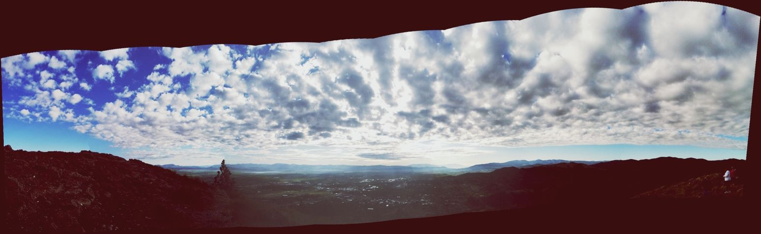 Different , Intense way of Clouds And Sky , Panoramic IPhoneography . Hiking 406 HelenaMontana Relaxing Enjoying Life