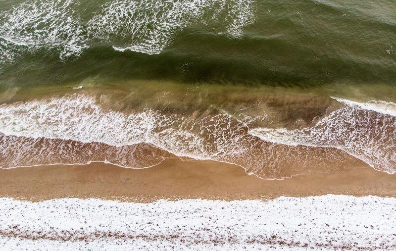 Snowy Beach and