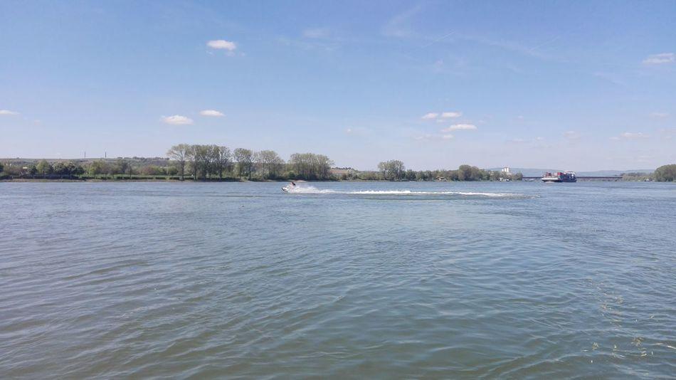 Outdoors Day Water Sky Sommer Rhein 2016 Vatertag Bootstour Hessen Blick Rheinland-Pfalz