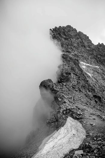 Mountain during foggy weather
