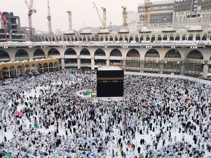 Kaabah Holly Places Tawaf Around Kabah Architecture Built Structure Building Exterior City Day Place Of Worship Belief Large Group Of People Building Crowd Religion My Best Photo