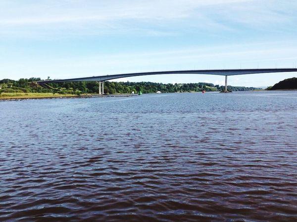 Landscape Foyle Bridge Lough Foyle Londonderry Northern Ireland