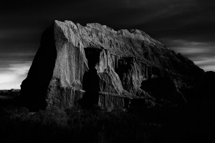 Ansel Adams Inspired Backgrounds Backpacking Badlands Beauty In Nature Black And White Day Inspirational Landscape Low Angle View Monochrome National Park Nature No People Outdoors Rocks Sale Scenics Shadow Sky Theodore Roosevelt National Park Tranquil Scene Wall EyeEmNewHere