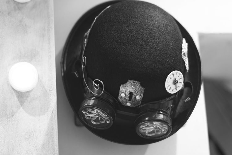 Black And White Close-up Googles Hat Indoors  Lieblingsteil No People Old Steampunk White Background