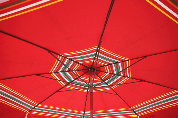 Market Shade Big Umbrella Close-up Cover Day Full Frame Indoors  Low Angle View No People Pattern Protection Red Shadow Shelter Umbrella