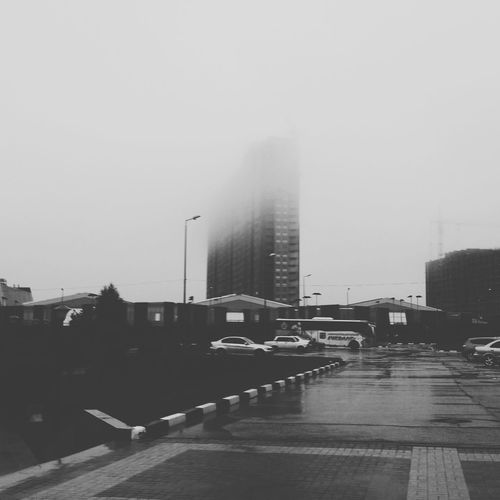 Cityscape Рязань Россия Ryazan Russia Fog Cloudy Day Noir Black городской пейзаж Taking Photos Walking Weekend House новостройки Adventures In The City
