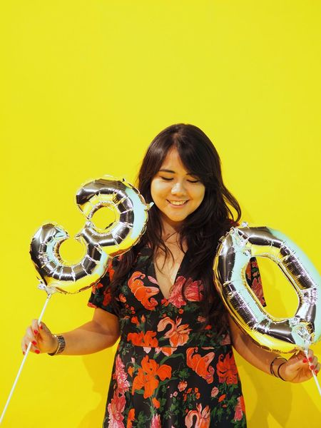 On the 3rd floor now. Paint The Town Yellow 30th Aniversary Birthday 30th Anniversary Celebration Happiness Balloons Birthday Balloons Silver Balloons Birthday Party Yellow Second Acts The Portraitist - 2018 EyeEm Awards