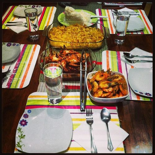 Made dinner for the family! ??? Prawns Tunabake Bakedchicken Dinner family @shelley_maemae @lovejell @juliepatacsil