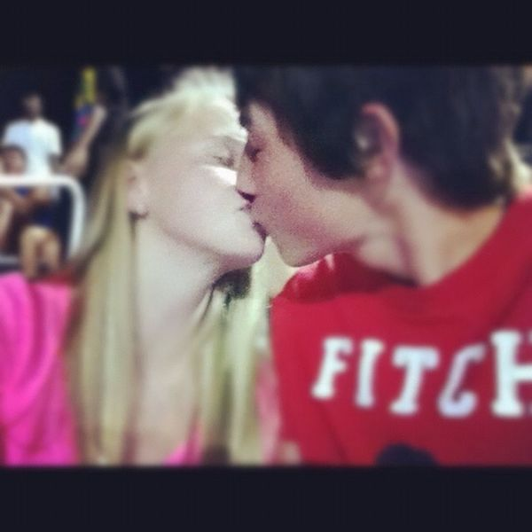 Our First Picture Kissing