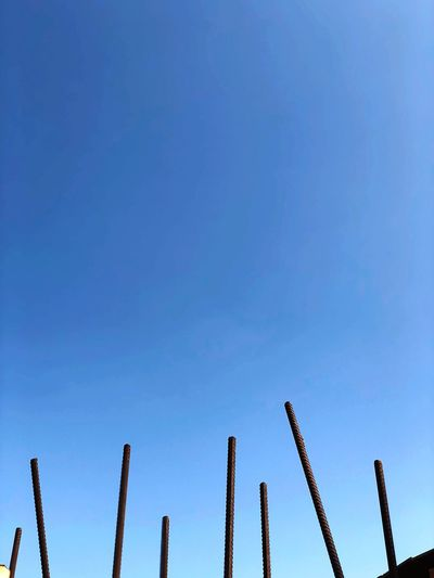 EyeEmNewHere Copy Space Low Angle View Blue Clear Sky Sky Day Outdoors Beauty In Nature