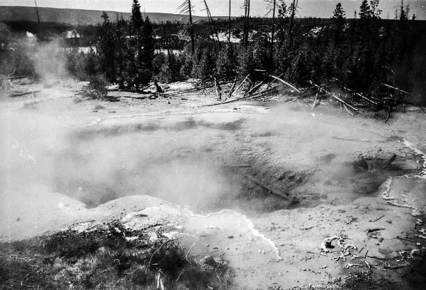 Nature Yellowstone National Park Black And White Film Photography Landscape Moody
