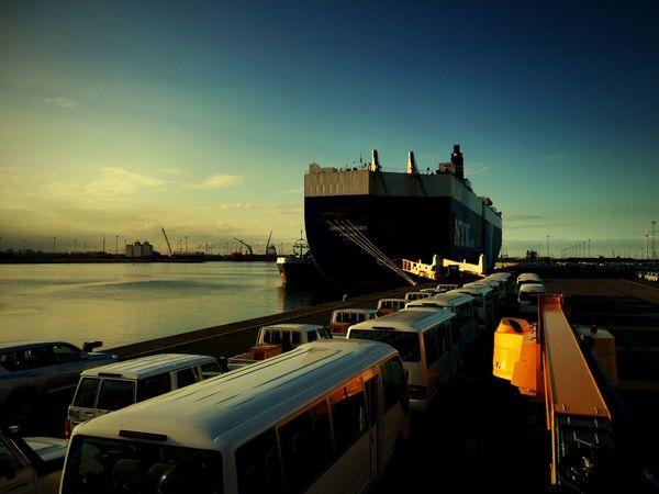 2016 Clouds And Sky Sunset #sun #clouds #skylovers #sky #nature #beautifulinnature #naturalbeauty #photography #landscape Ship Car Carrier Harbor Ship At Dock Docks Telehandler