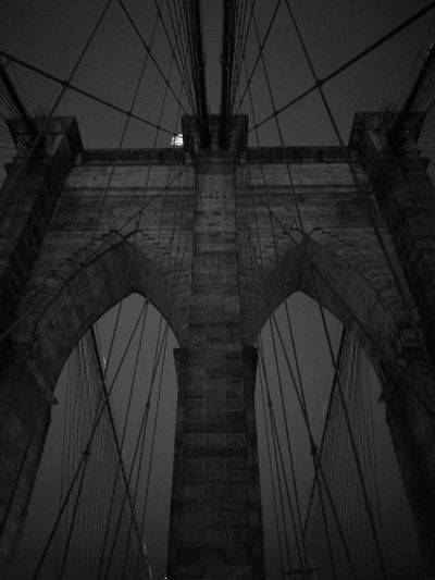 The Bridge. Brooklyn Bridge / New York Brooklyn Architecture Brooklynbridge Brooklynnyc Brooklyn Ny Low Angle View Built Structure Connection No People Sky Outdoors Bridge - Man Made Structure Day