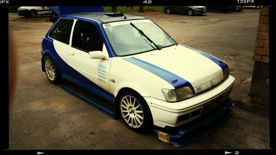 Waiting for hot days. Testing.new parts.^^^^ Ford Fiesta Rs1800 Racing Car