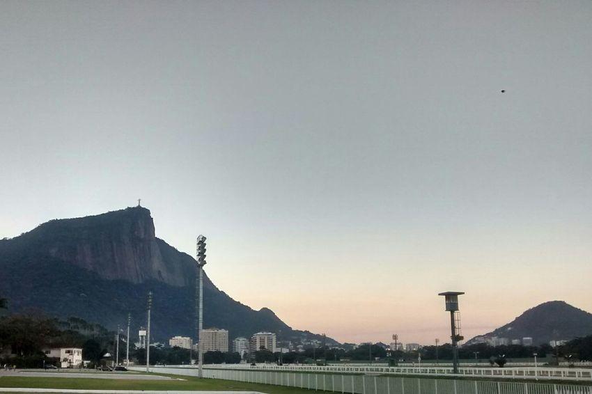 Cristo redentor Cariocadagema Sunset Sky Rio De Janeiro