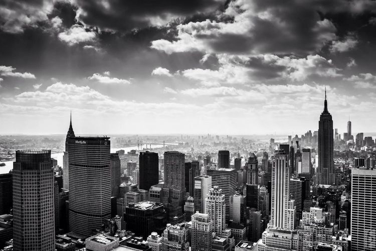 Manhattan against sky
