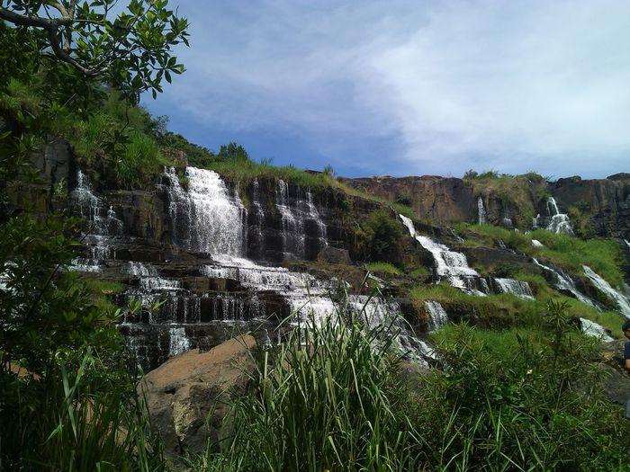 Pongua waterfall Beauty In Nature Dalat Vietnam Landscape Nature No People PonguaWaterfall Sky Water Waterfall