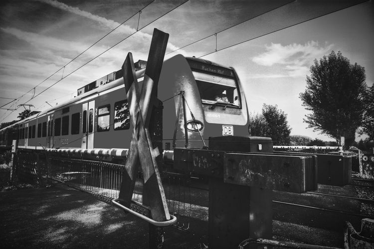 Train Hangin Out Taking Photos Blach And White Black&white