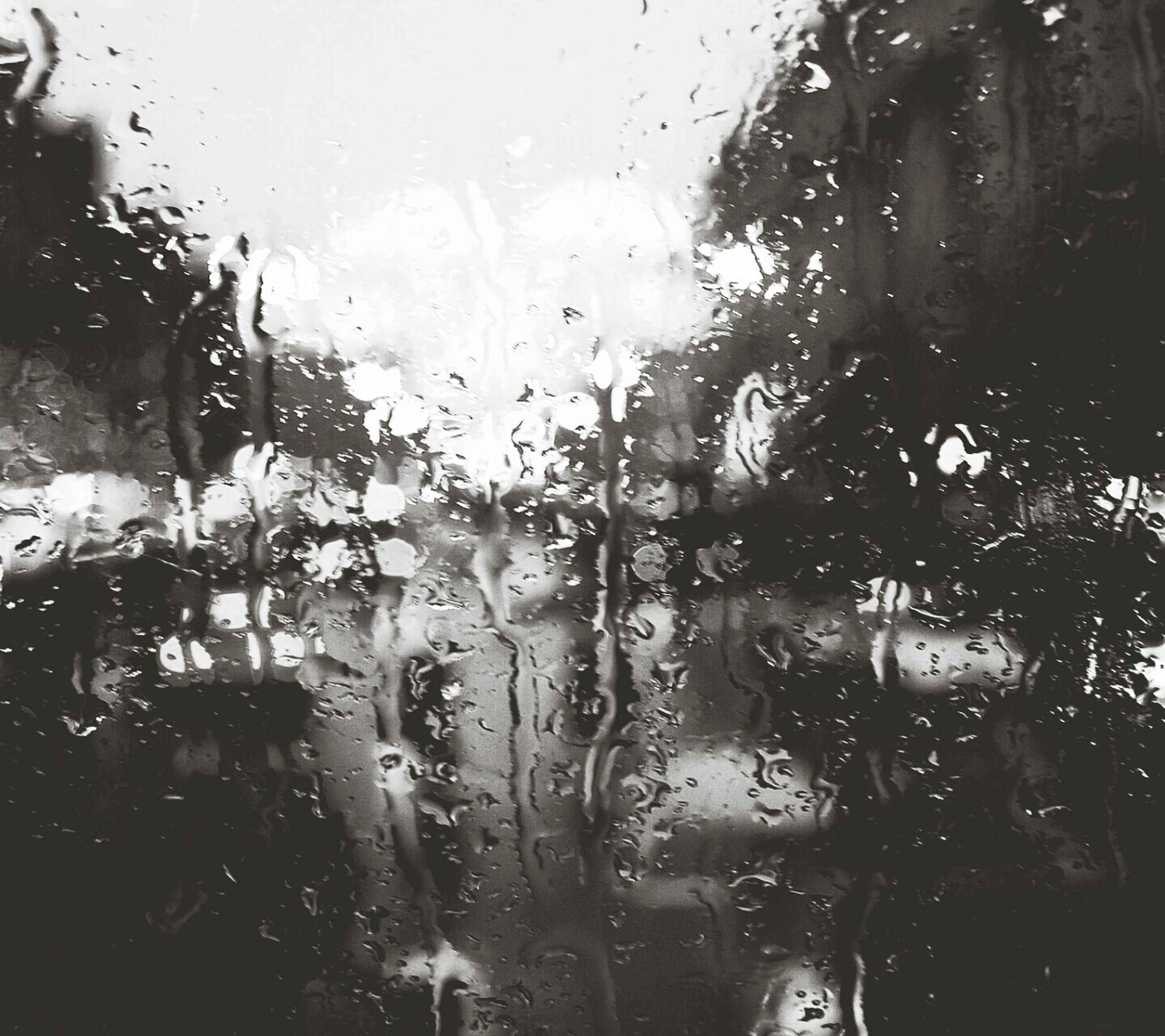 window, drop, transparent, indoors, wet, glass - material, rain, water, raindrop, glass, weather, full frame, season, tree, backgrounds, close-up, focus on foreground, sky, vehicle interior, no people