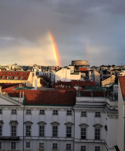 Vienna Wien Rainbow Regenbogen Colors Summerrain Naturspiel Colorful
