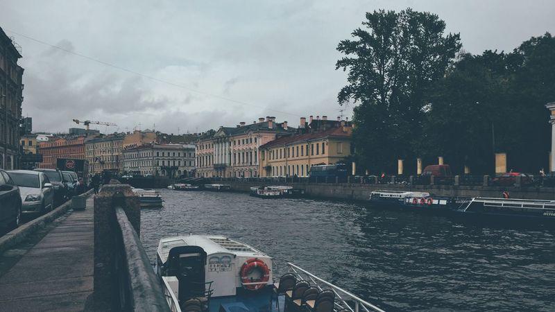 Walk in 16x9 River Bridge Boats Street Saint Petersburg Saint-Petersburg Vscocam VSCO Cityscapes City
