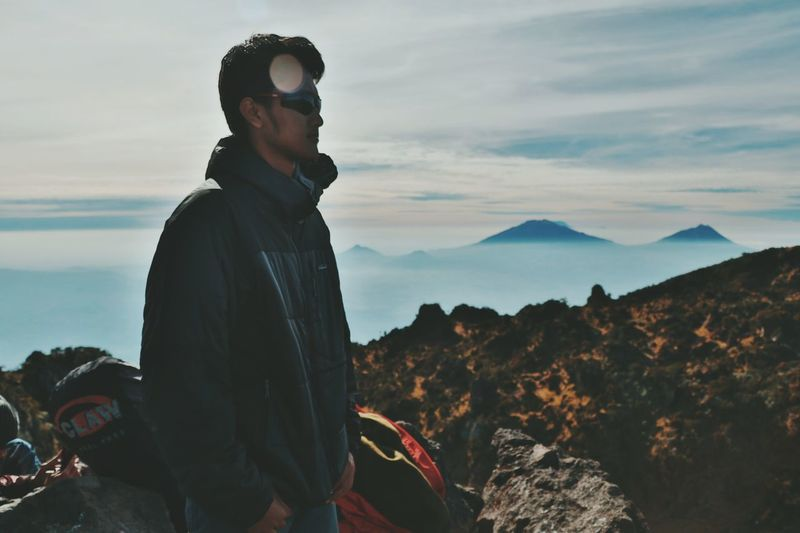 People.. One Man Only One Person Only Men Adults Only Adult People Standing Adventure Outdoors Landscape Sky Mountain Day Nature Silhouette Arts Culture And Entertainment EyeEmNewHere Human Body Part INDONESIA Travel Photography Milky Way Space Nature Travel Standing