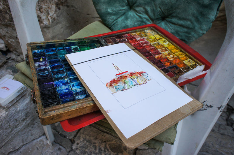 Sketch of Rovinj Colors Creativity Day Drawing Drawing - Art Product Leisure Activity No People Painter - Artist Sketch Pad