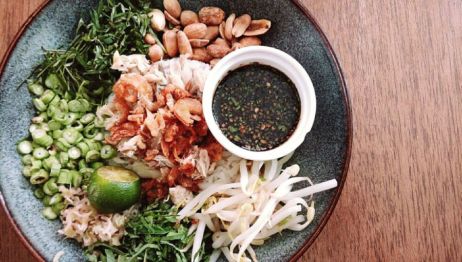 Ulam rice Healthyfood Nasi Ulam EyeEm Selects Bowl Directly Above Vegetable Table Bean Sprout High Angle View Preparation  Black Peppercorn Raw Food Close-up