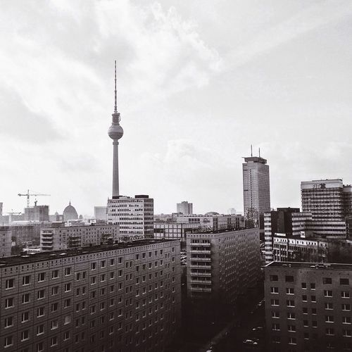 City Life Berlin Berlin Photography Blackandwhite City Architecture Building Exterior Tall - High Built Structure Sky Television Tower No People Cityscape